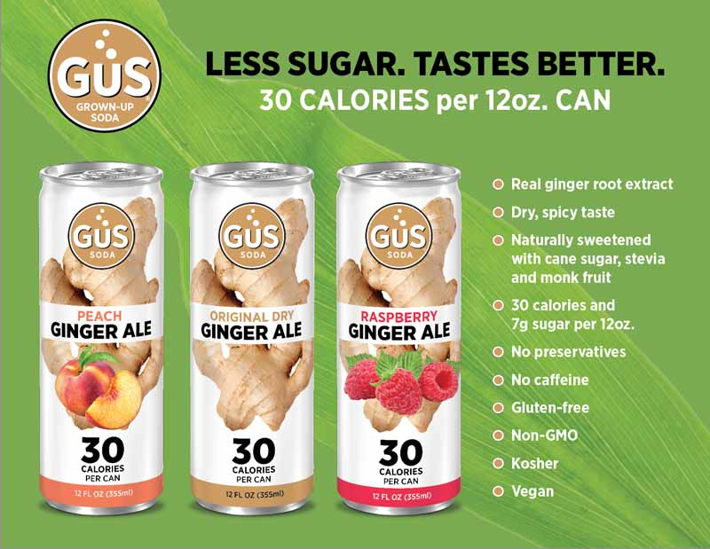 GuS Ginger Ales - Low Calorie