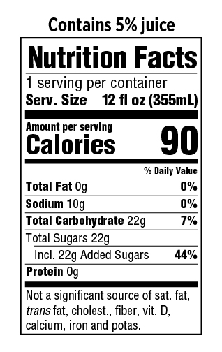 Gus Star Grapefruit Nutrition Facts