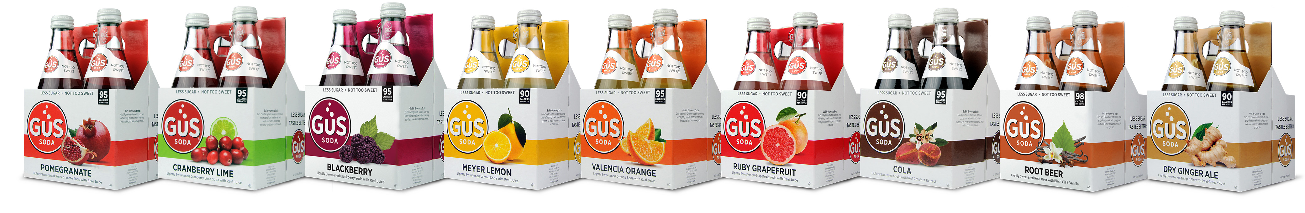 GuS Soda - 4 Packs