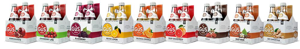 GuS Soda - 4 Packs