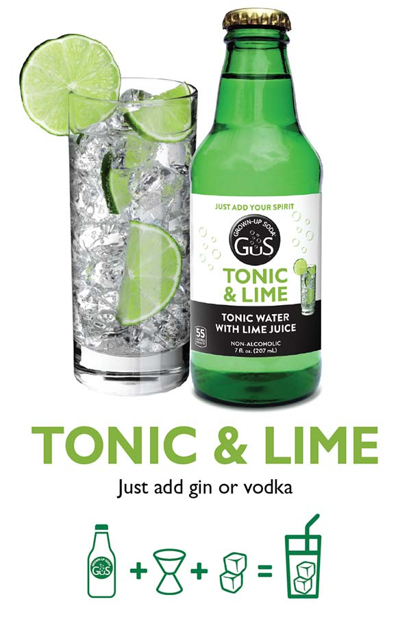 GuS Tonic & Lime Cocktail Mixer